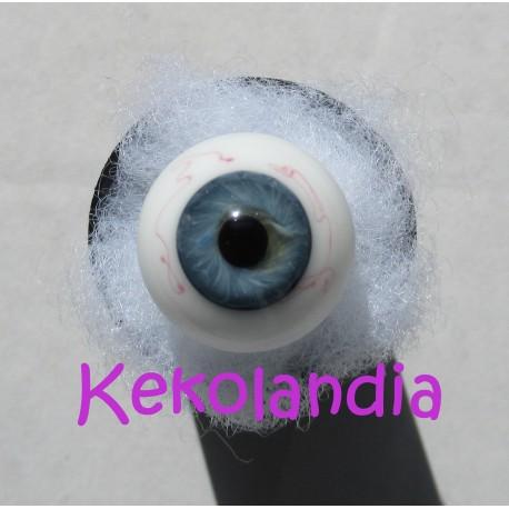 Glass Eyes Ballon - Blue Grey