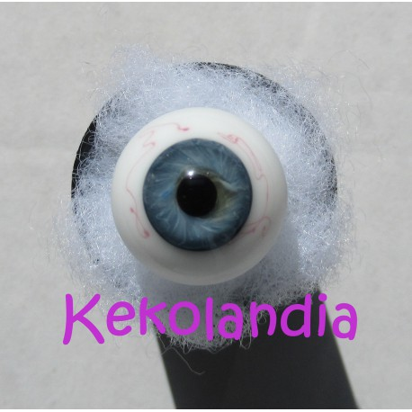 Ojos Cristal Bola  - Azul Gris
