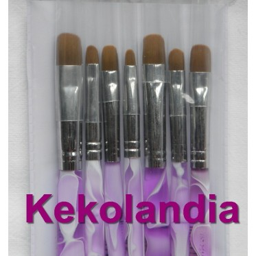 7 Brushes assorted sizes
