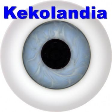 Ojos Cristal Bola  - Azul Muy Claro