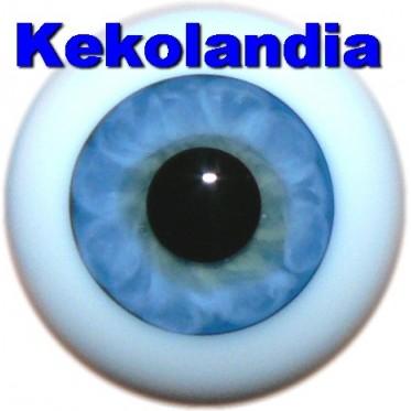 Glass Eyes Ballon - Light Blue