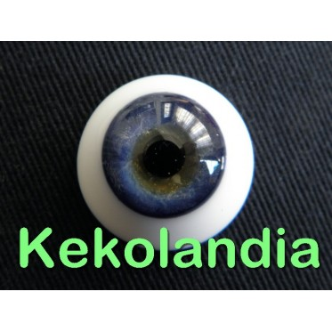 Ojos Cristal - Azul - 18mm