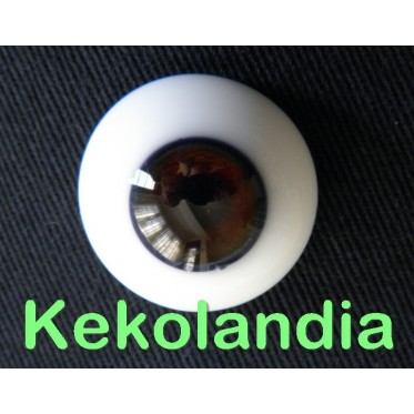 Glass Eyes-Brown-18mm