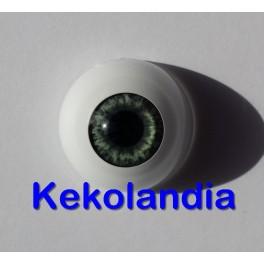 Ojos- Azul Medio Gris-22mm