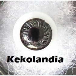 Ojos Cristal Bola  - Negro -14 mm
