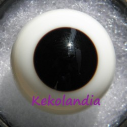 Ojos Cristal Bola  - Negro