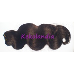 Long Human Hair- Wavy - Dark Brown