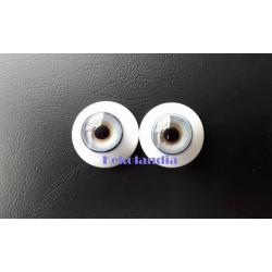 Ojos Cristal - Hielo Azul - 20mm