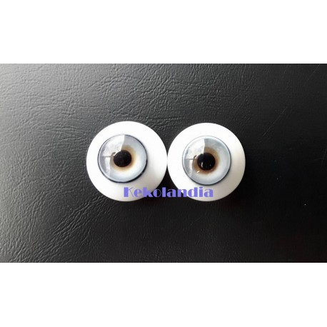Ojos Cristal-Hielo Azul-20mm