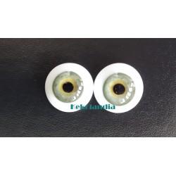 Ojos Cristal-Verde-22mm