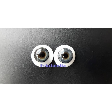 Glass Eyes-Blue Grey-24mm
